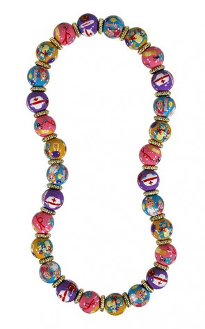 NURSE NANCY CLASSIC NECKLACE - GOD by Angela Moore - Hand Painted, Beaded Necklace