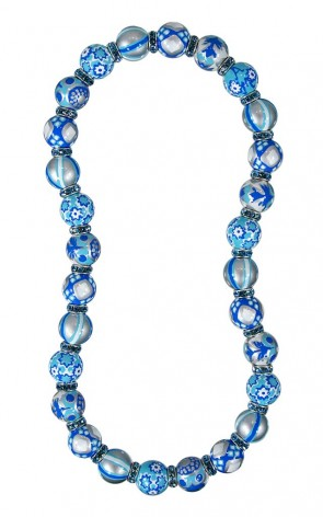 BLUE LAGOON CLASSIC NECKLACE - AQUAMARINE SWAROVSKI CRYSTALS by Angela Moore