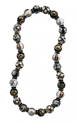 FRENCH ROAST CLASSIC NECKLACE - JET SWAROVSKI CRYSTALS by Angela Moore
