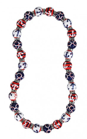 ME331851 - ANCH AWAY RED WHITE BLUE Necklace