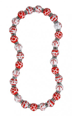 ME331853 - ANCHORS AWAY RED WHITE Necklace