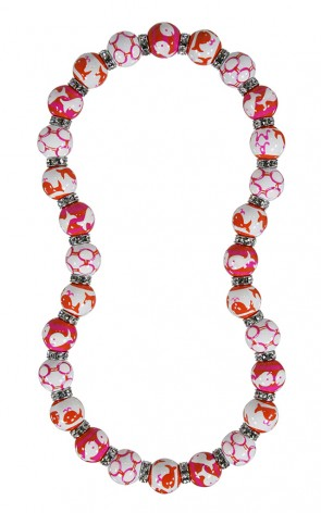 ME331858 - WHALE WATCH PINK ORANGE Necklace