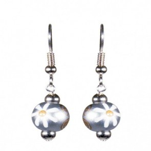 MOON SHADOW CLASSIC BEAD EARRINGS - SILVER