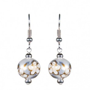 WEDDING BELLS CLASSIC BEAD EARRINGS - SILVER