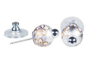 WEDDING BELLS POST EARRINGS - SILVER by Angela Moore - Hand Painted Earrings