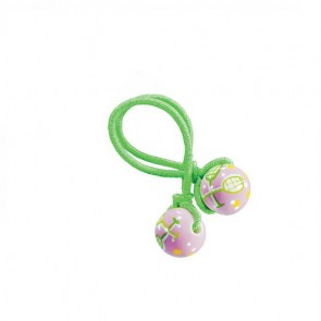 TENNIS TALES HAIR TIE - LIME ELASTIC by Angela Moore