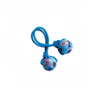 COTE D'AZUR HAIR TIE - BLUE ELASTIC by Angela Moore