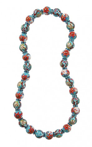 CORAL REEF RELAXED FIT NECKLACE - AQUA SWAROVSKI CRYSTALS