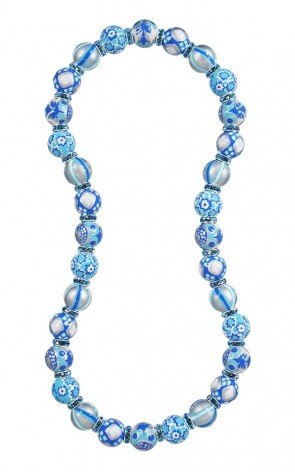 BLUE LAGOON RELAXED FIT NECKLACE - SAPPHIRE SWAROVSKI CRYSTALS