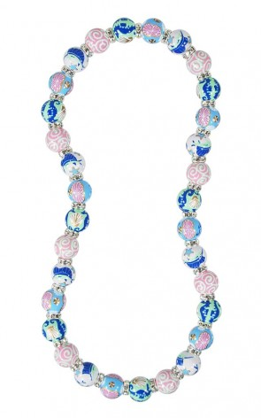 SEA SENSATION RELAXED FIT NECKLACE - CLEAR SWAROVSKI CRYSTALS