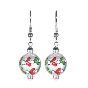 MOONLIGHT MISTLETOE CLASSIC BEAD EARRINGS
