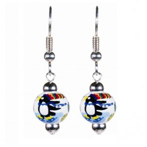 POLAR PENGUINS PETITE BEAD EARRINGS W/SILVER