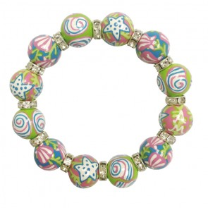 SHE SELLS SEASHELLS CLASSIC BRACELET - CLEAR SWAROVSKI CRYSTALS
