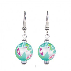 SILVER BELLS CLASSIC BEAD EARRINGS - SILVER