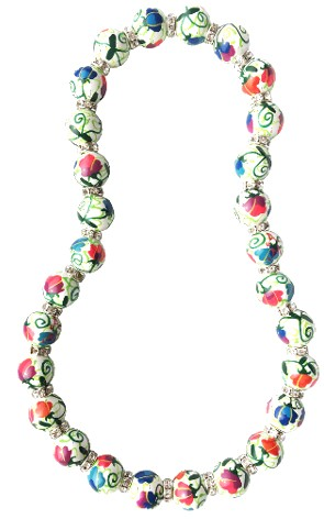 SWEET PEA CLASSIC NECKLACE W/CLEAR CRYSTALS