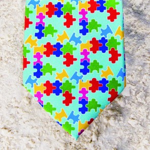 AUTISM AWARENESS TIE - MINT