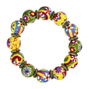 RAVISHING RAINBOWS CLASSIC BRACELET W/GOLD