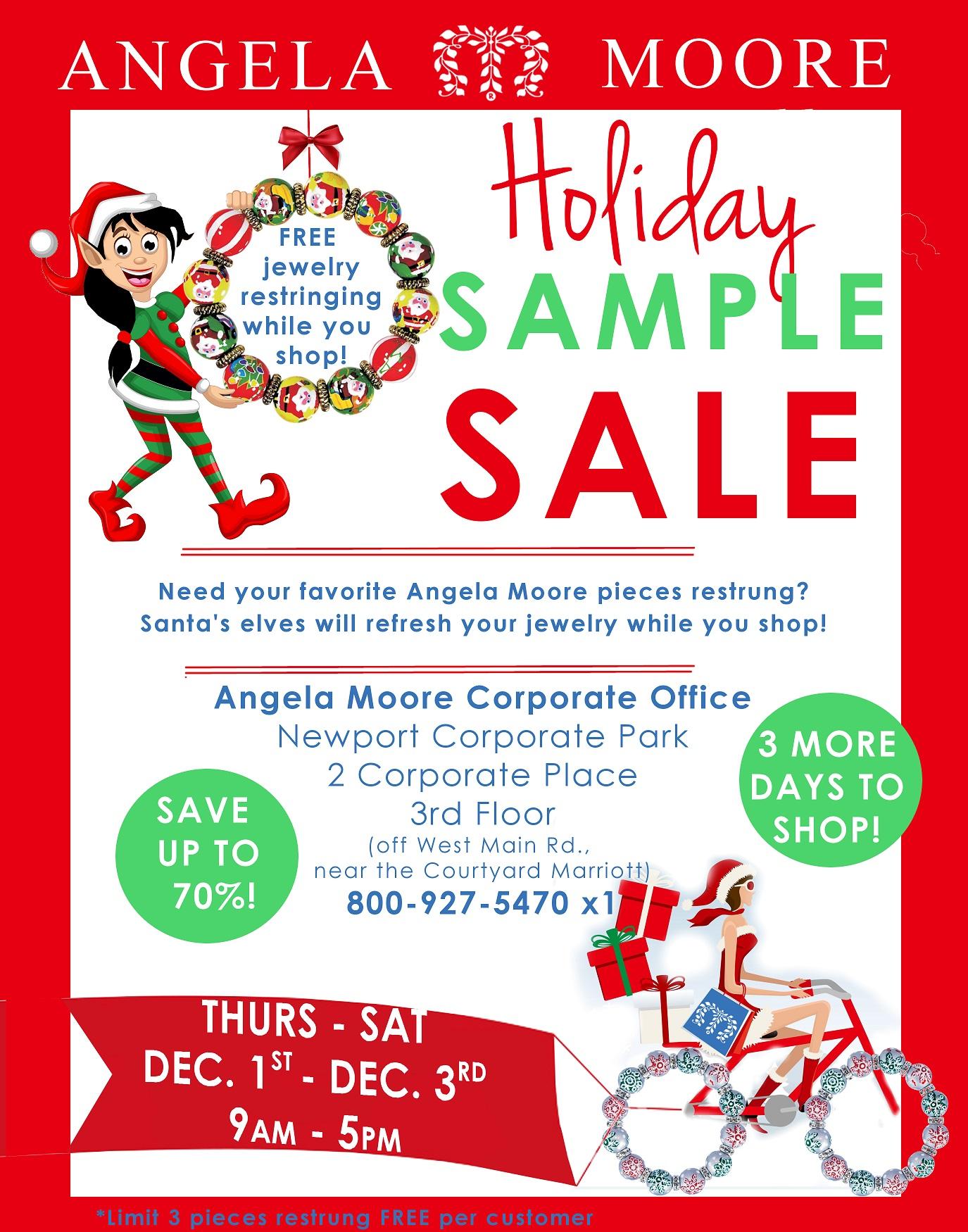 Angela Moore Warehouse Sale