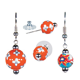 angela moore hand painted earings